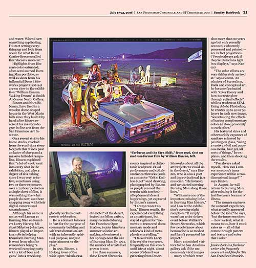Chronicle Dateline Article about William Binzen and Burning Man.